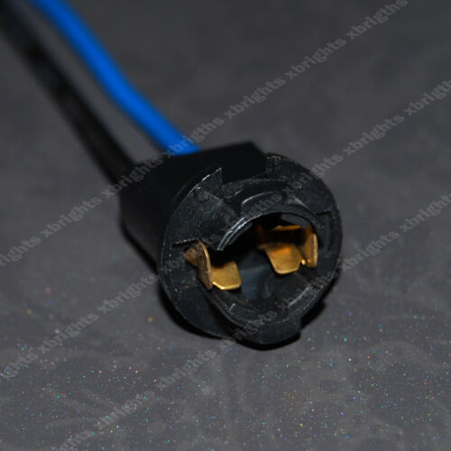 2pcs T10 Wedge Light Instrument Bulb Extension Connector Wiring Harness Sockets