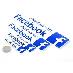 2x-Find-Us-On-Facebook-Sticker-Choice-of-Sizes-Vinyl-Sticker-Decal-Windows-Cars