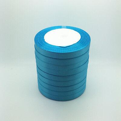 "New 50 Yards 3/8"" 10mm Sky blue Bulk Satin Ribbon Craft sewing Supplies crafts H"