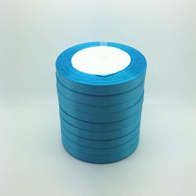 "New 50 Yards 3/8"" 10mm Sky blue Bulk Satin Ribbon Craft sewing Supplies crafts"