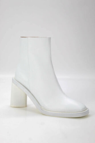 ACNE Studios Womens Leather Chunky Heel Ankle Boot