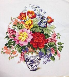 Large-New-Completed-finished-cross-stitch-034-Classical-Flower-Vase-034-home-decor-gift