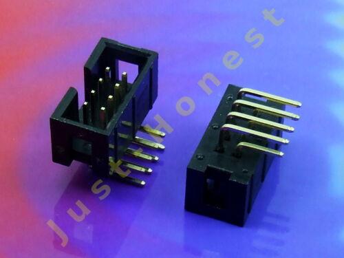 2 x IDC 8 lötbuchsen Ribbon Cable Jack steckker header i cavi a nastro STK