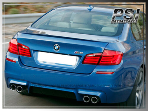 For 12 F10 528i 535i 550i M5 Look Painted Trunk Spoiler+3D Style Roof Wing Lip
