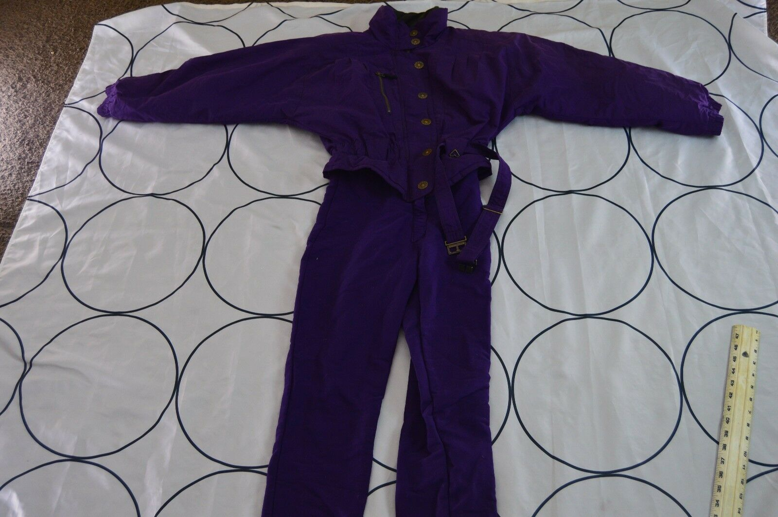 OBERMEYER  Full Body Snowboard Ski Suit WOMEN Size 8 Vintage 90s Purple One Piece  the best selection of