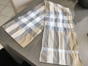 Chèche foulard écharpe  BURBERRY tartan beige /gris impeccable