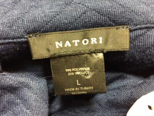 Blu Natori Nehru Ispirato Jacket Sz Molto Navy Asian 429879262003 L NWT morbido Button gIxwdI