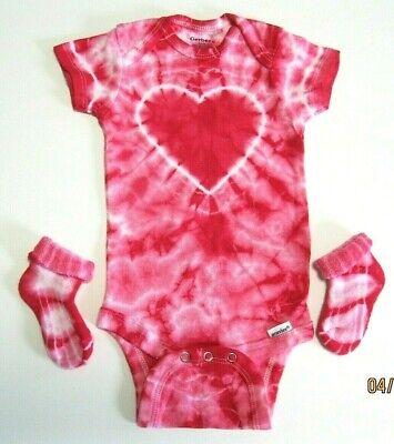 Tie Dye Heart Onesie 6month