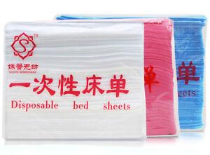 100pcs-Lot-Disposable-Non-woven-Bed-Pads-Cover-Sheets-70cm-x-170cm-White-Blue