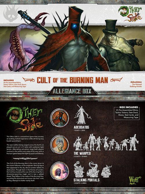 Malifaux The andra Side Cult of the Burning Man Allegiance låda Wyrd