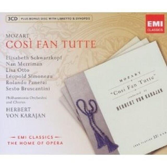 HERBERT VON KARAJAN/SCHWARZKOPF/+ - COSI FAN TUTTE (GA) 4 CD OPER NEU MOZART