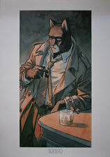 "Juanjo GUARNIDO  ""Blacksad , le bar"" Affiche BD"