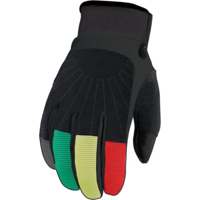 Men/'s Size Medium White Plaid Mountain Bike BMX Pow Gloves Rake Glove