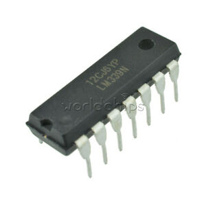 20Pcs-IC-LM339-LM339N-DIP-LOW-POWER-Quad-Voltage-Comparator-NEW