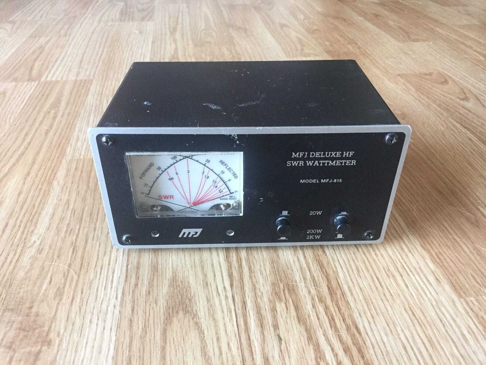 jonesrj8691 MFJ Deluxe HF SWR Wattmeter MFJ-815