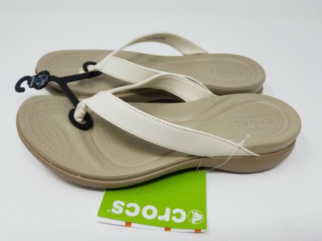 Malu Super Comfort White Leather Flip Flop Sandals Women's Size 9 Adjustable