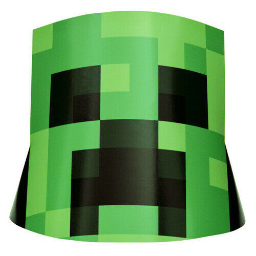 8 ~ Birthday Party Supplies Favors Creeper Video Game MINECRAFT CONE HATS