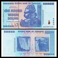 AA /2008 Series P-91 UNC Zimbabwe 100 Trillion Dollars Banknote Note