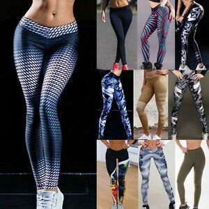 Femmes Leggings Jambière Sport Yoga Gym Aptitude Pantalon Collant ... 5b96d2621b5