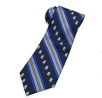 Officially Licensed Star Wars R2D2 Striped Big Boys Silk Tie