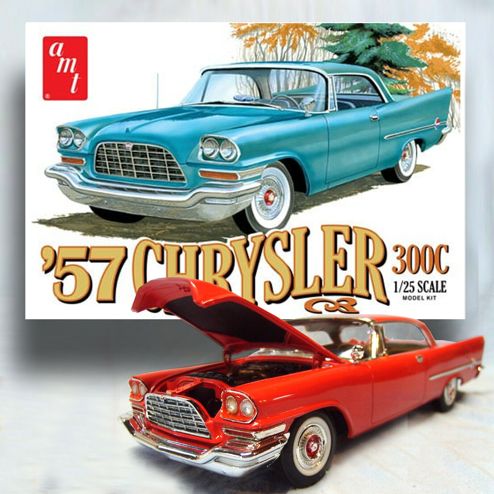 AMT 1 25 '57 CHRYSLER 300C PRECISION MODEL KIT 1100