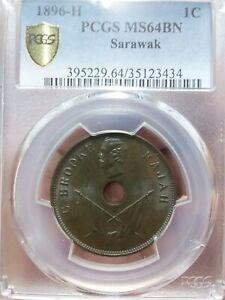 Sarawak - 1896H 1 cent  PCGS MS64 BN