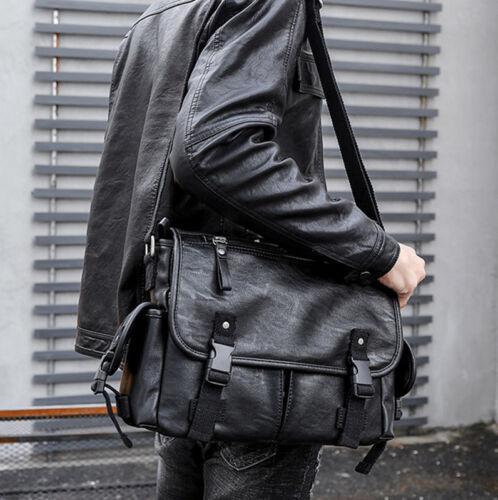 Men/'s Business Leather Handbag Briefcase Shoulder Messenger Laptop Satchel Bag