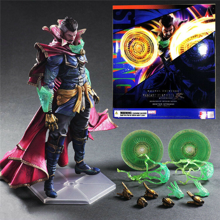 PLAY ARTS KAI DR. DOCTOR STRANGE MARVEL UNIVERSE ACTION FIGURES MODEL STATUE TOY