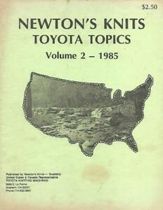 Newton-039-s-Knits-Toyota-Topics-Vol-2-from-1985-for-Machine-Knitting