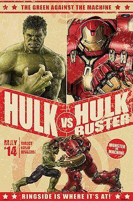 Hulk vs Hulkbuster poster -  Avengers 2 Age of Ultron poster - New Movie Poster