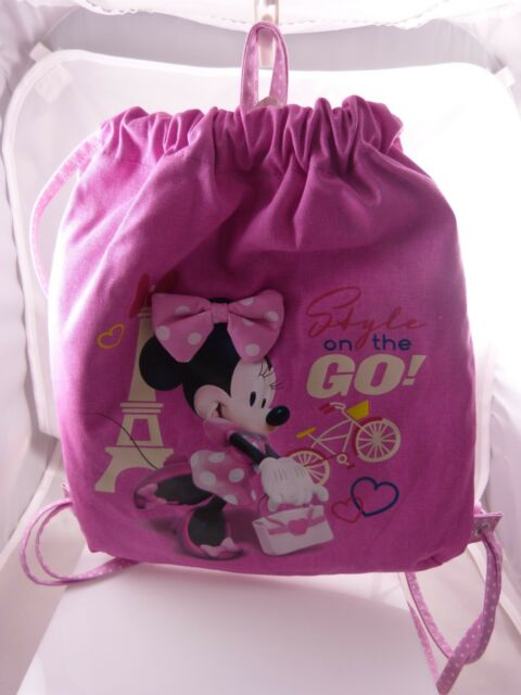 Disney Minnie Mouse Eiffel tower style on the go kids backpack back to school