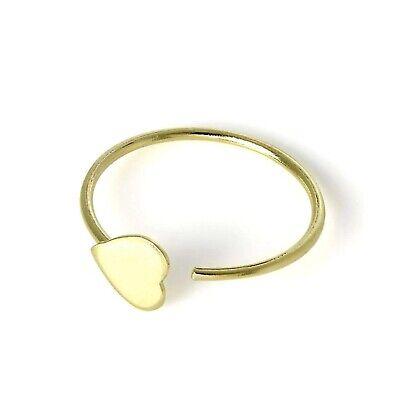 Eyebrow Captive Ring 9K Carat Genuine Gold Nose Tragus Helix Nipple 22g