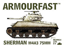 Armourfast 99014 1/72 WWII USA Sherman M4A3 75mm Tank (2 Models)