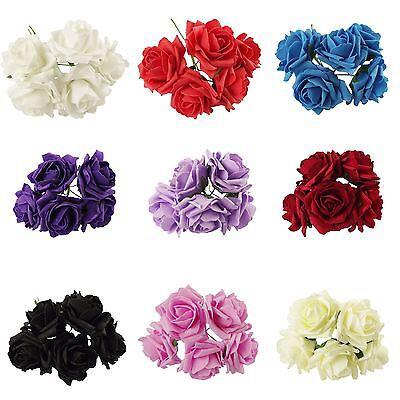 Splendido Mazzo Di 5 Grandi Rose Artificiali Schiuma Matrimonio- Costo Moderato