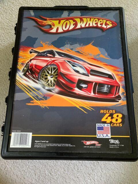 Mattel Hot Wheels 48 Car Storage Carrying Case 2007 Made In USA Tara Toy Corp