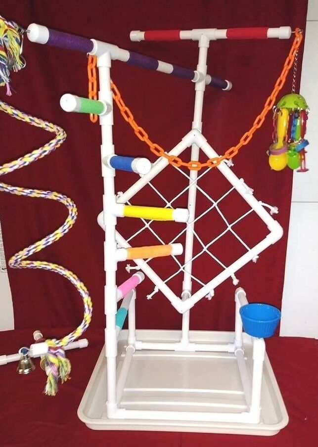 38  Tall Climber 3 4  PVC Parrot Perch \ Stand \ Play Gym \PANFREE SHIPPING