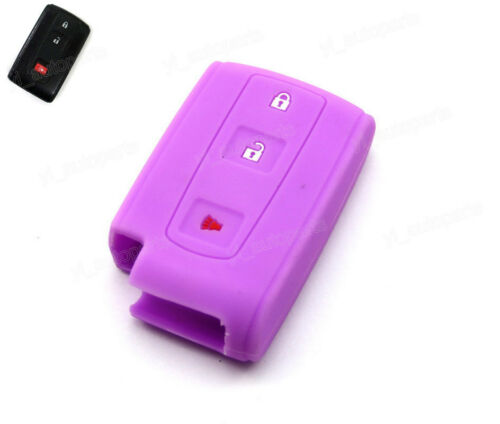 Purple Silicone Case Cover Fit For Toyota Prius Crown Remote Smart Key MOZB31EG