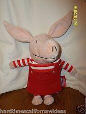 """14"""" OLIVIA THE PIG ZOOBIES Cloth Story Book Soft Plush"""