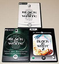 3 PC SPIELE SAMMLUNG - BLACK & WHITE 1 & 2 & INSEL DER KREATUREN
