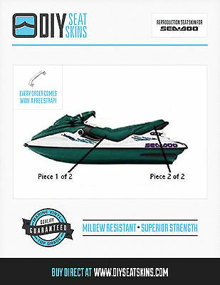 GTS GTX SEA DOO GREEN Seat Skin Cover 96 97 98 99 00 01 ~FREE MANUAL  Sea Doo Gtx Wiring Diagram on