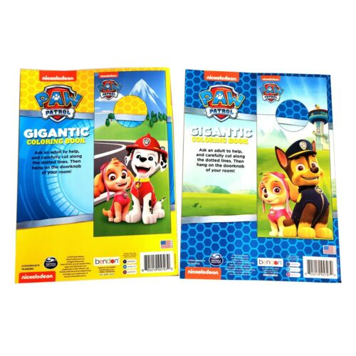 Paw Patrol Coloring Book Large Gigantic Size 2 Books and Lots of Fun