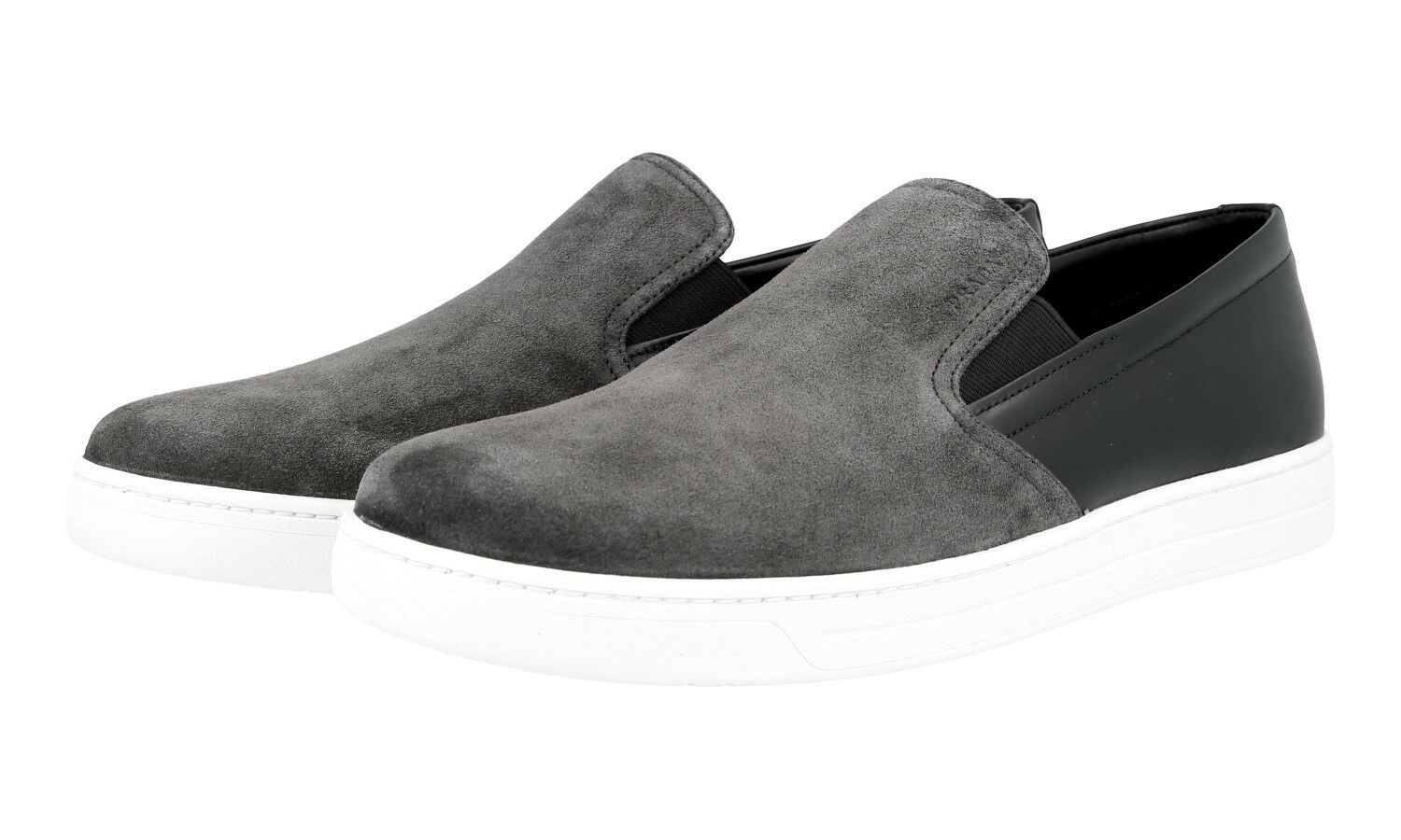 AUTH LUXURY PRADA 9,5 SNEAKERS SHOES 4D2733 GREY SUEDE NEW 9,5 PRADA 43,5 44 d4bc65