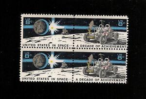 US-Stamps-1434-35-realisation-dans-l-039-espace-bloc-de-4-neuf-sans-charniere-ORIGINAL-GUM-livraison