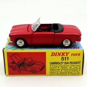 ATLAS-1-43-DINKY-TOYS-511-CABRIOLET-204-PEUGEOT-Red-MODELE-Models-car
