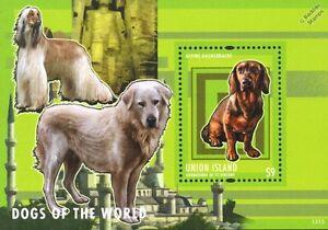 Alpine Dachsbracke Dog Stamp Sheet (chiens De La Série Mondiale) 2013 Union Island Handicap Structurel