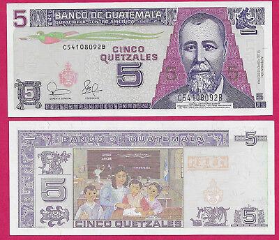 Revised Color Scheme//p116 UNC Guatemala 5 Quetzales 12.3.2008