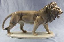 Löwe Figur Bohemia raubkatze figur großer porzellan Löwen tiger selten 1930
