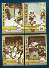 72/73 TOPPS BRUINS/RANGERS NHL PLAYOFF GAME 4 CARD #5