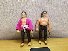 Set of 2 vintage Remco Karate Kid Sato figures, Black pants, nice!