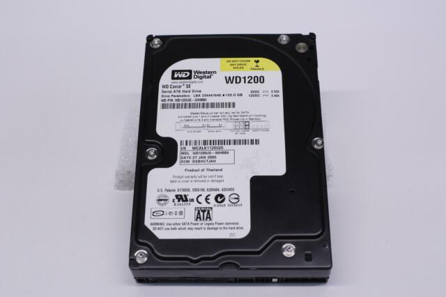 WESTERN DIGITAL WD1200JD-00HBB0 120GB 7200 RPM SATA HARD DRIVE